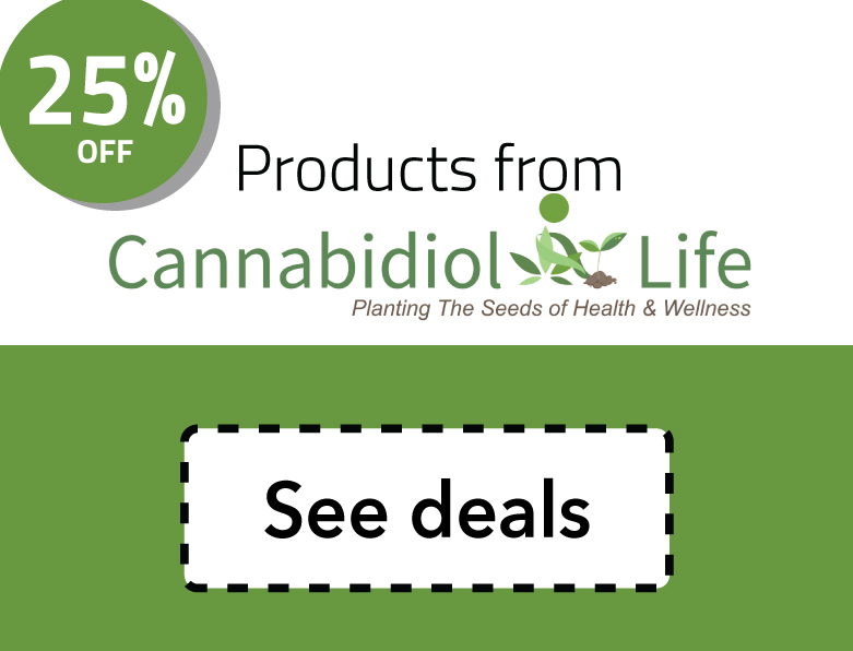 Cannabidiol Life Coupon Code: Up to 25% off products like those found on Cannabidiol Life