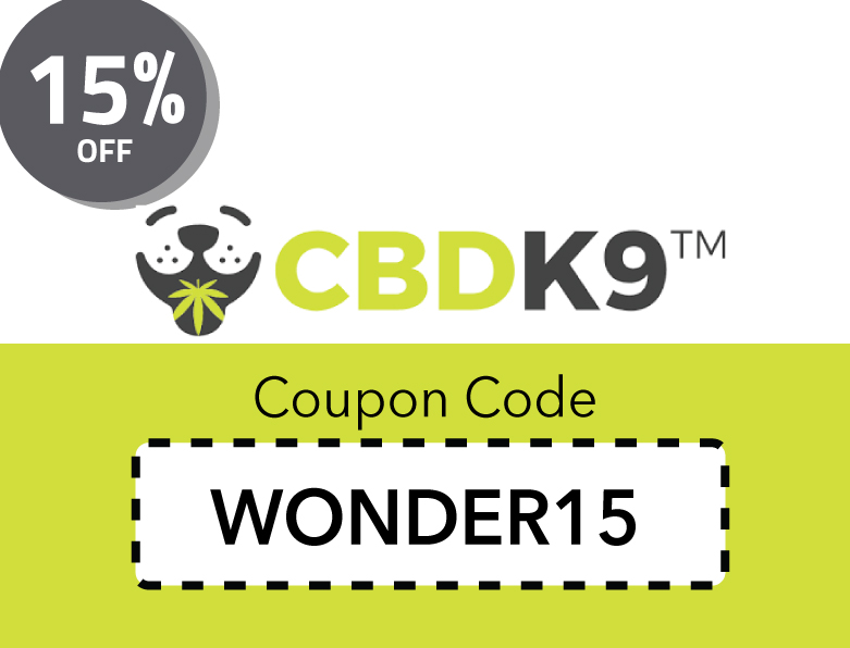 CBDK9 Oil Coupon Code | Get 15% off Hemp Oil for Dogs with Code WONDER15